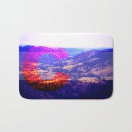 Colorado Flag--Valley Bath Mat