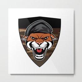 Puma Head military emblem Metal Print