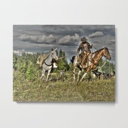 Cowboy Country Metal Print
