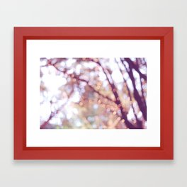 Glitter in the air Framed Art Print