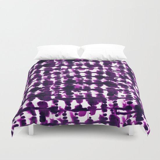 Parallel Purple Duvet Cover