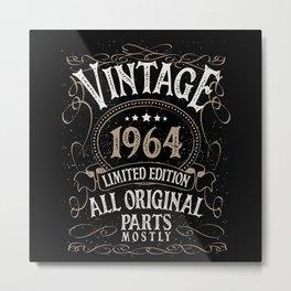 Birthday Born In 1964 Metal Print