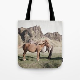 Rustic Horse Photograph in Mountains Tote Bag
