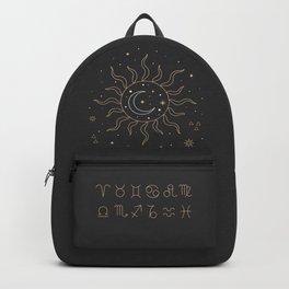 Sun, Moon and Zodiac Backpack