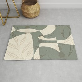 Abstract - Vase Shapes in Artichoke Green Rug