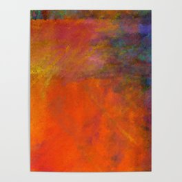 Orange Study #2 Digital Painting Poster