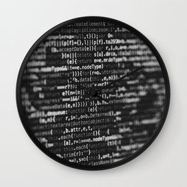The Code (Black and White) Wall Clock