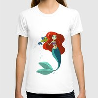 little mermaid T-shirts featuring Little Mermaid by Kaori