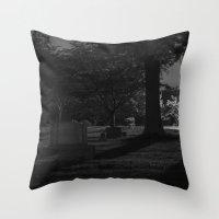 noir Throw Pillows featuring Noir by Derek Donovan