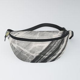 Abstract Marble - Black & Cream Fanny Pack
