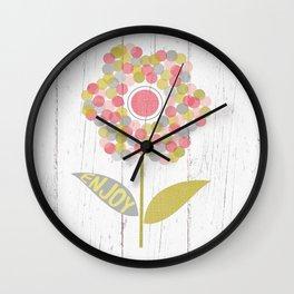 Dot Flower Wall Clock
