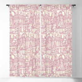 Ancient Greece cherry pearl Blackout Curtain