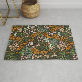 Night in the flowered meadow Rug