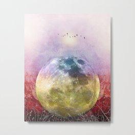 MOON under MAGIC SKY III Metal Print