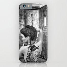 Tattooed naked girl iPhone Case