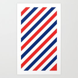 Barber Stripes Art Print