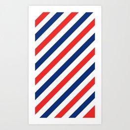Barber Stripes Art Print