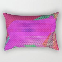 neon bear Rectangular Pillow