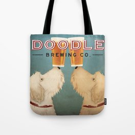 Goldendoodle Labradoodle Doodle Brewing Co. Beer Sign Tote Bag