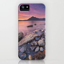 I - Spectacular sunset at the Elgol beach, Isle of Skye, Scotland iPhone Case