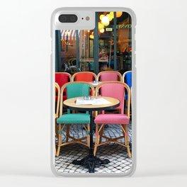 Parisian cafe Clear iPhone Case