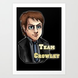 Team Crowley Duvet Cover Art Print