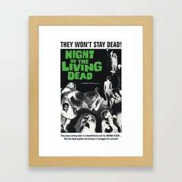 Night of the Living Dead Framed Art Print