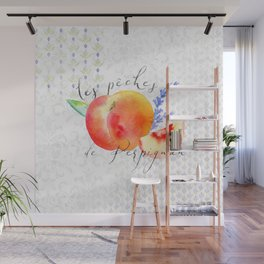 Les Pêches de Perpignan—French Country Peaches from Provence Wall Mural