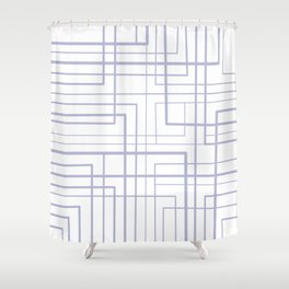Angle - White Shower Curtain