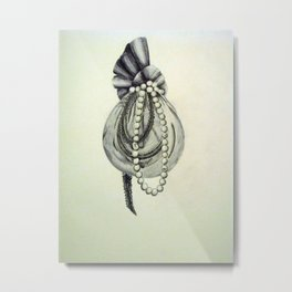 Pearly Lacyness Metal Print