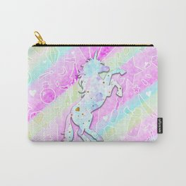 Pastel Rainbow Unicorn Carry-All Pouch