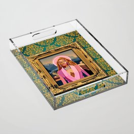 Queen B in the Louvre Acrylic Tray