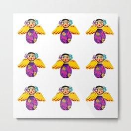 Mexican Purple Angels Metal Print