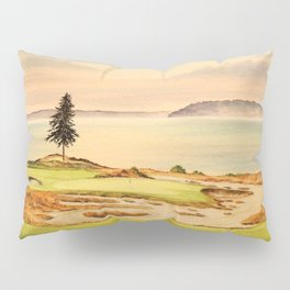 Chambers Bay Golf Course 15th Hole Pillow Sham