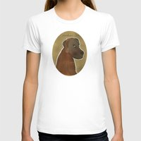 lab T-shirts featuring chocolate lab by bri.buckley
