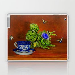Teacup with Artichokes Laptop & iPad Skin