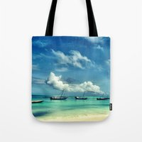 hakuna Tote Bags featuring Hakuna Matata by Anna Andretta