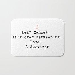 Dear Cancer (Black Type) Bath Mat