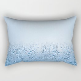 Condensation drops on glass Rectangular Pillow