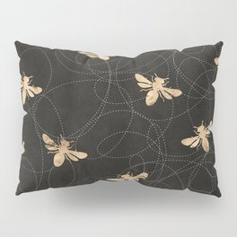 Busy Bees (Black) Pillow Sham