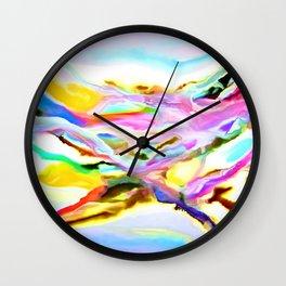 Coastal Color Abstract Wall Clock