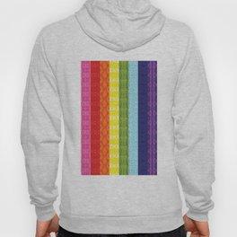 TorsoPattern Gay Pride Flag (Original 8-Color) Hoody