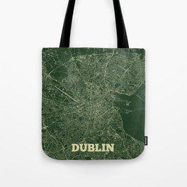 Dublin Street Map Tote Bag