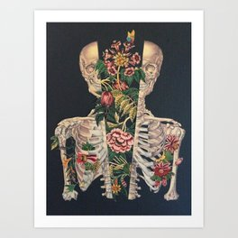 Skeleton of flowers Art Print