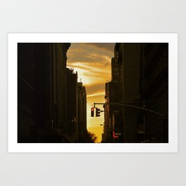 Sundown on Manhattan Art Print