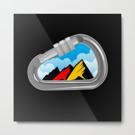 Climbing Carabiner with Germany Flag Metal Print