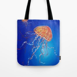 Jellyfish, Oil painting by Faye Tote Bag