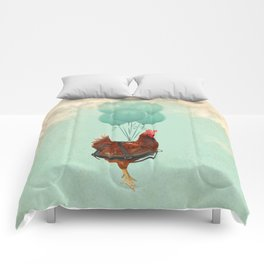 Chickens can't fly 02 Comforters