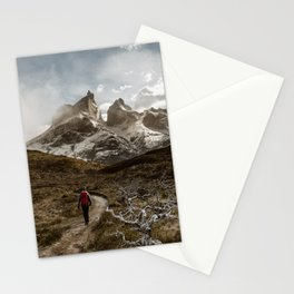 Hiking Torres Del Paine Stationery Cards