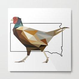 South Dakota – Ring-Necked Pheasant Metal Print